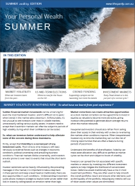 Your Personal Wealth Summer 2018